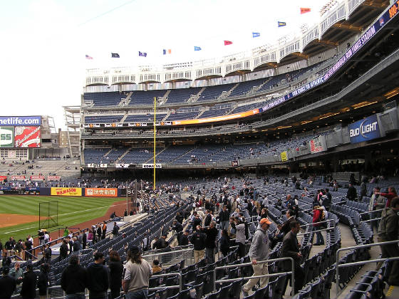 Down the first base line - Yankee Stadium