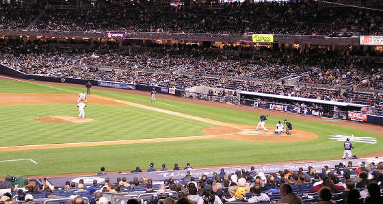 Game action from field level - Yankee Stadium